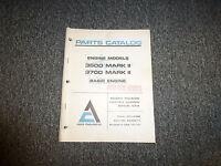 Allis Chalmers 3500 3700 Mark II & 670 Series Parts Catalog Manual TPL4108