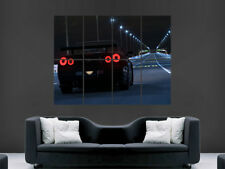 BLACK GTR NISSAN SKYLINE  POSTER PRINT STREET RACING WALL ART