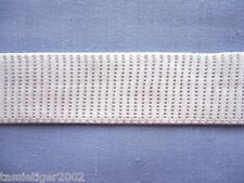 25mm White Ribbed Non Roll Elastic (x 0.95 metres)