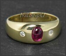 Diamant & Rubin Damen 585 Gold Allianzring, Ring mit 1ct, 14 Karat Gelbgold