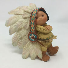 Friends Of The Feather Little Chief In Headdress 1994 Enesco Resin