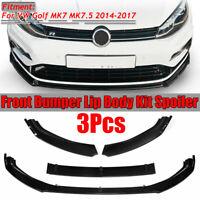 Spoiler Labbro del Paraurti Anteriore Nero Brillante per VW Golf MK7 MK7.5 14-17
