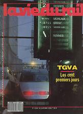 la vie du rail N°2228 TGV atlantique les 100 premiers jours   1990