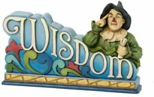 Jim Shore Wizard of Oz Scarecrow Wisdom Word Plaque 4033978 New Retired