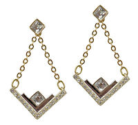 SWAROVSKI Ohrstecker Ohrhänger, 2 in 1, 5186438 Stecker Gold Silber Kristalle