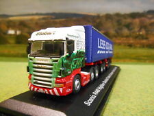 ATLAS OXFORD 1:76 EDDIE STOBART RAIL SCANIA R SKELETAL D-TEC & CONTAINER 4649122