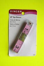 "Singer 60 inch Pink Measuring Tape 5/8"" wide Non Stretch Reinforced Fiberglass"