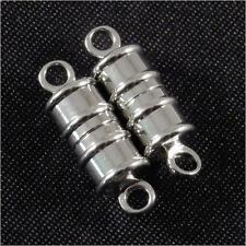 Set de 2 CIERRES AMAR metal bañado en plata para pulseras y collares