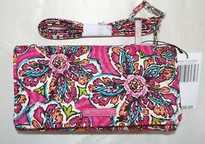VERA BRADLEY Wallet Crossbody optional Shoulder Strap  Sunburst Floral Pink NWT