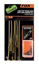 Fox Edges Lead Clip Tubing Rigs 45cm Karpfenvorfach Karpfenmontage