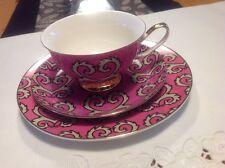 Contemporary Fine Bone China Tea Cup & Cake Plate