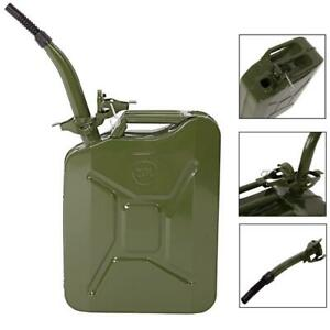 New 20L Metal Jerry Can Military Container Store Fuel Oil/Petrol/Diesel + Spout