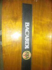"Rubber Bar Mat Rail Drink Spill Drip Catcher 3.5 x 23.5"" BACARDI ""Bat in Gold"""