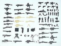 52pc Custom Guns Lot WW2 Military Swat Police Army Weapons for LEGO Mini Figures