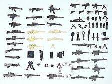 52 Custom LEGO Guns Lot WW2 Military Swat Police Army Weapons for Minifigures!!