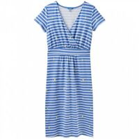 Joules Jude Jersey Wrap Dress (Blue Stripe)