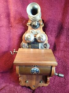 1800 -s , VERY RARE SMALLER CASE ANTIQUE WALL TELEPHONE ERICSSON SWEDEN SWEDISH
