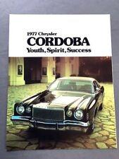 1977 chrysler cordoba original canada car sales brochure catalog