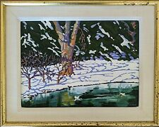 "William C. Hook Acrylic on Canvas, ""Cold Ducks"" signed"