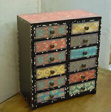 Vintage colours mini drawer chest