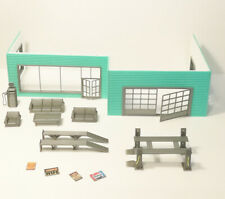 Shop and Garage Diorama Kit, with many elements, Scale 1:43 Unpainted NEW
