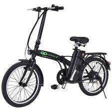 "20"" 250W 36V Folding Electric Mountain Bicycle EBike Speed Lithium Battery Black"