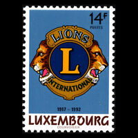 Luxembourg 1992 -  Anniversaries Lion International - Sc 870/1 MNH