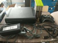 Microsoft Xbox 360 Bundle 120GB W/ Wireless Controller & Hookups & 4 Games