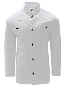 Boys Charro Shirt El General Western Wear Camisa Charra de Niño White