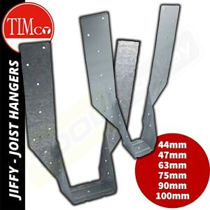 Jiffy Joist Hangers - No Tag Galv Timber Hangers - 44 / 47 / 63 / 75 / 90 / 100
