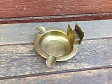 Vintage Farberware Brass Ashtray and Match Holder with Koala Bear Logo
