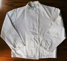 Vintage 1950s chefs white jacket kitchen workers cooks coat unisex stand collar