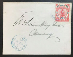 1893 China Shanghai Jubilee Issue Local Post Stamp on Cover (Chan#LS167)