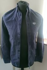 Mens Fred Perry Dark Blue Denium Shirt Size XS