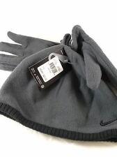 Nike Kids Fleece Hat and Glove Set (8-20),grey/black