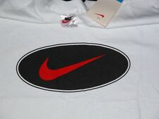 Vtg NOS NIKE SWOOSH LOGO White T Shirt M DEADSTOCK Made in USA