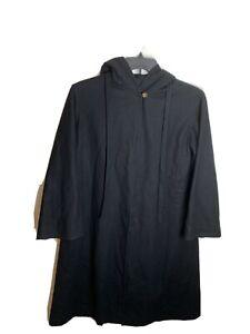 Pendleton Ltd Black Hooded One Button Wool Cape Cloak One Size  Flaw