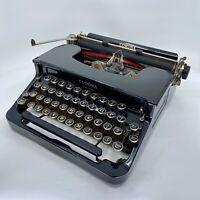 REVIZED 1939 Smith Corona Standard Portable Flattop Typewriter Black With Case