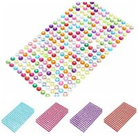 2MM Clear Gems Self Adhesive Stick 8 Colors Acrylic Rhinestone Diamantes DIY