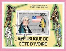 République de COTE D'IVOIRE - 1976 - Bloc N° 6 - Bicentenaire des Etats-Unis - O