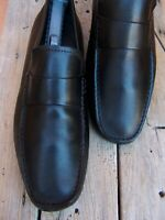 BANANA REPUBLIC Mens Dress Shoes Black Leather Casual Driver Loafers Sz Size 11M