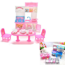 20x/Lot Barbie Doll Toys playhouse Furniture Set Dining Kitchen Cabinet Best