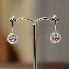Natural Pink Spinel Dangling Earring in 9Ct Gold