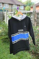 Lacoste Men's Black Hooded Sweatshirt With Blue Panel - Size L (FR5)
