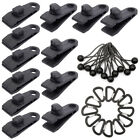 Lots Tarp Clips Locking Awning Clamp Snap Hanger Bungee Cord Buckle Camping Tool