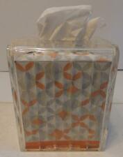 CLEAR ACRYLIC PLASTIC KLEENEX TISSUE DECORATIVE BOX COVER DIAMOND CUT DESIGN