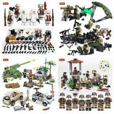 WW2 Armee Soldaten Minifiguren Mit Waffen Militärische Set Fit Lego Weltkrieg 2