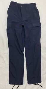 PROPPER Navy Blue BDU Uniform Cargo Rip-Stop Pants Size Small Long 30 X 34