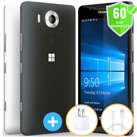 Microsoft Nokia Lumia 950 32GB AT&T Unlocked Smartphone RM-1105 Window 10, 20MP