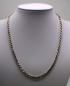 """20"""" silver rope chain"""